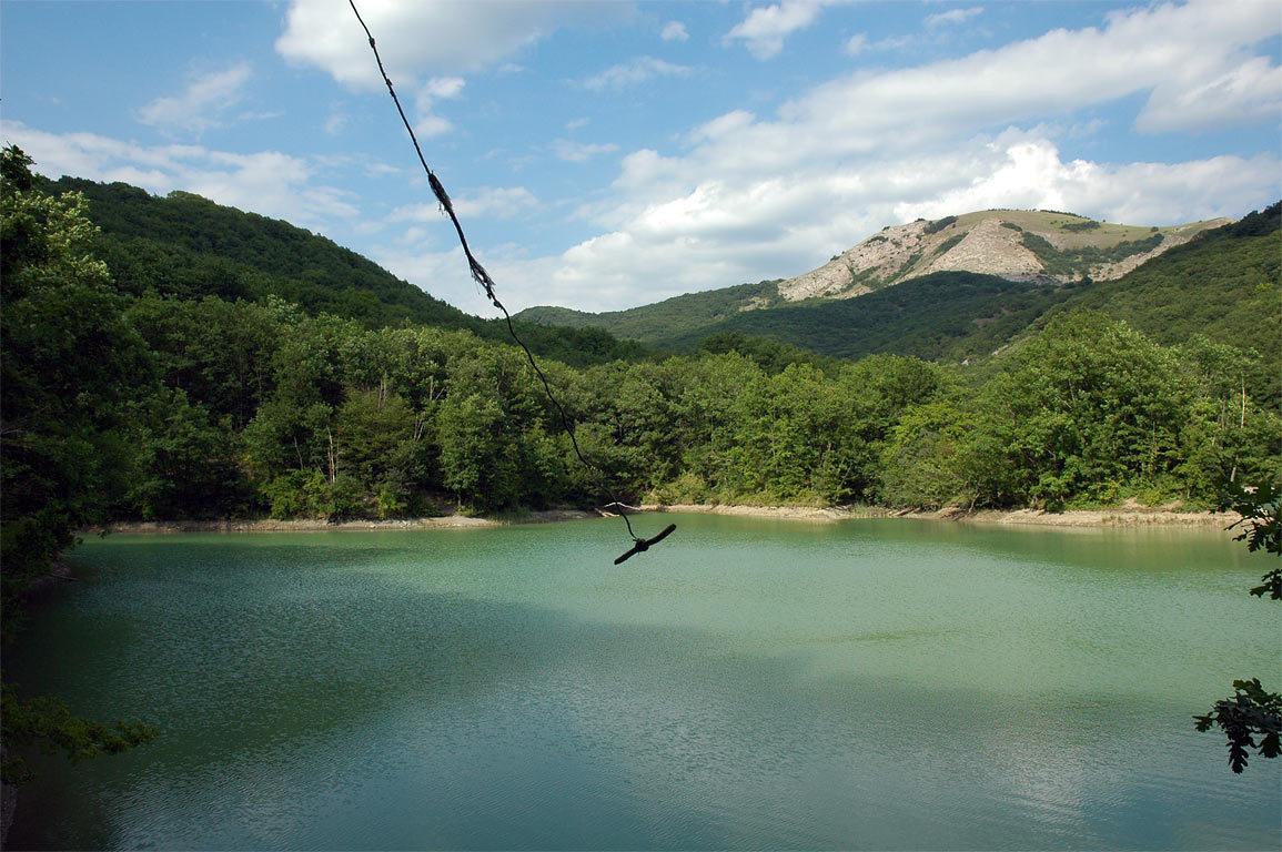 Вид на озеро Ворон с берега