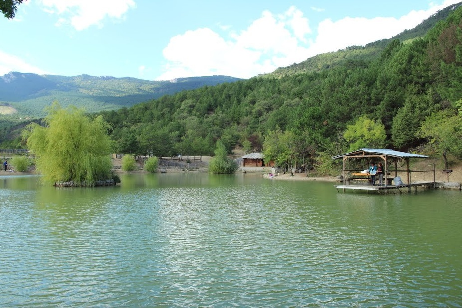 Вид с берега на Васильевское озеро