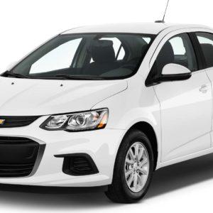 Chevrolet Aveo New белый на белом фоне